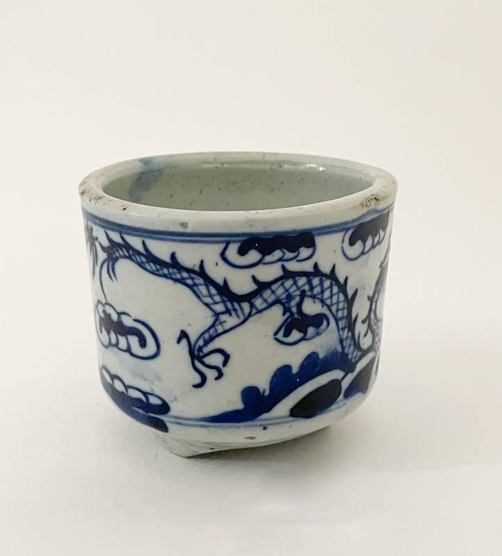 Blau-weiße China Porzellanschlale